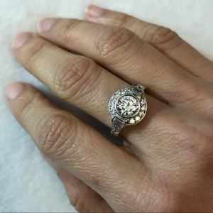 Jewelry - NWOT Turkish Handmade 925 Silver White Topaz Ring